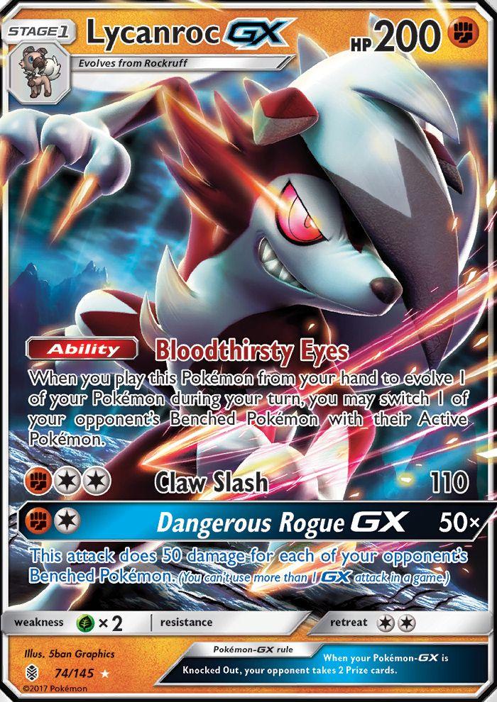 Lycanroc-GX (Guardians Rising GRI 74)