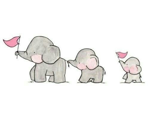 animals, art, baby, creative, cute, draw, drawing, elephant, flags, paint, painting, parade