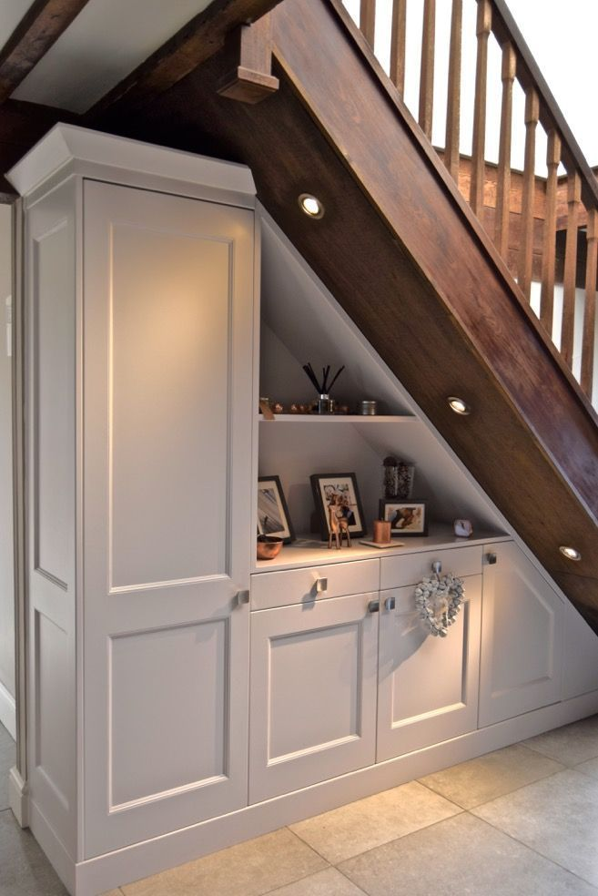 Hallway Understair Storage For Coats And Shoes With Display Shelves Kitchendes Staircase Storage Hallway Storage Cabinet Hallway Flooring