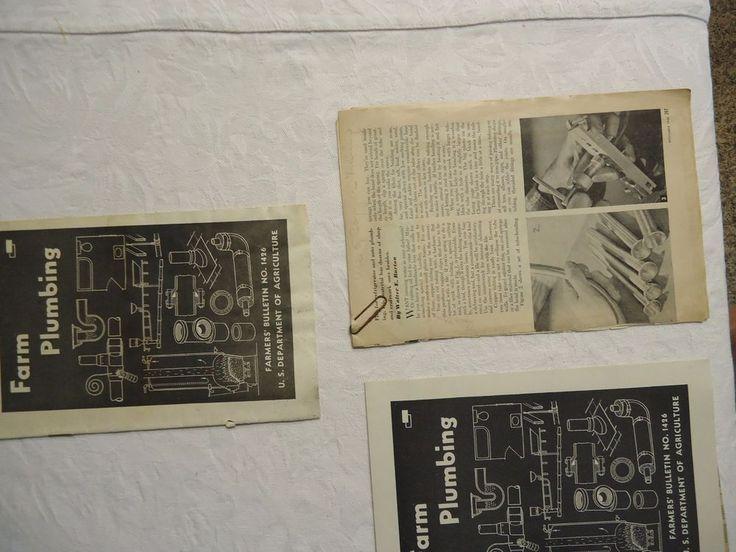 Farm Plumbing Farmers Bulletin 1940s