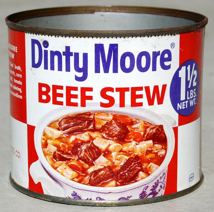 Dinty Moore Beef Stew (1960's).