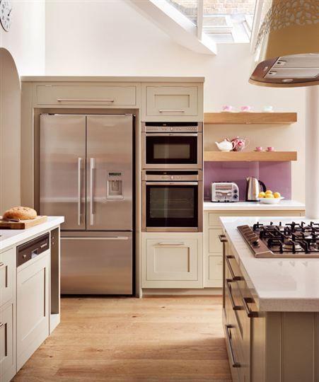 Fisher U0026 Paykel 3 Door Fridge Freezer, In An Open Plan Shaker Kitchen