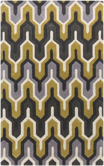 Throwback pattern that is stylish and modern today! A Cosmopolitan Rug by Surya. (COS-9177)