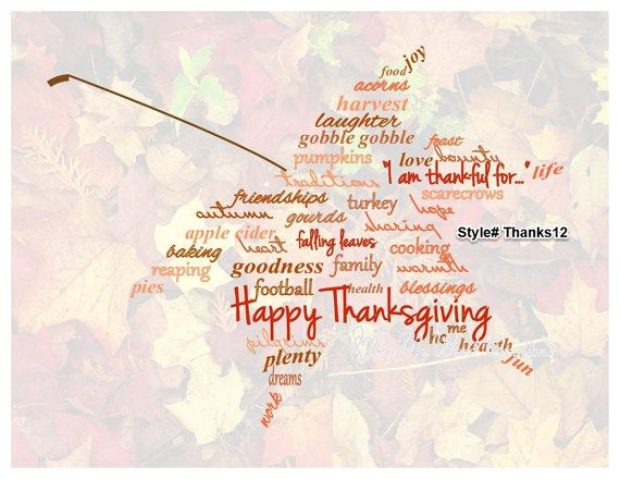 Handmade Thanksgiving Maple Leaf word art by ByMyWordCreations, $20.00