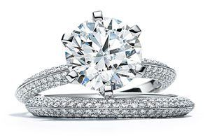 New Pave TIffany engagement ring setting.