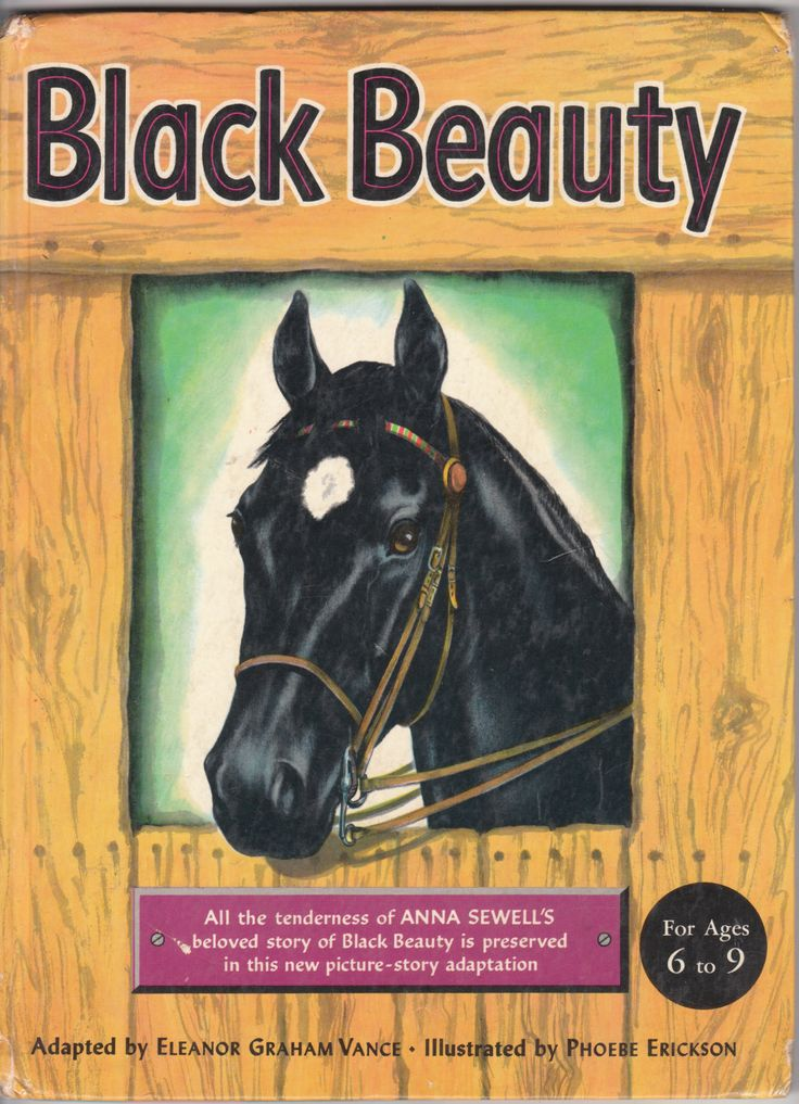 Image result for black beauty picture book 50s