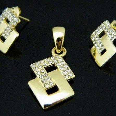 Ten ekstrawagancki komplet biżuterii to wizytówka dobrego stylu! #MarcoDiamanti #biżuteria #komplet #styl #złoto