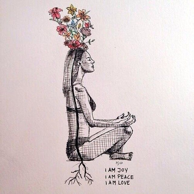 Root down into the earth and lift up through your spine.