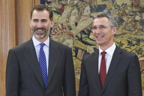 King Felipe met with  NATO Secretary General Jens Stoltenberg at Zarzuela Palace.