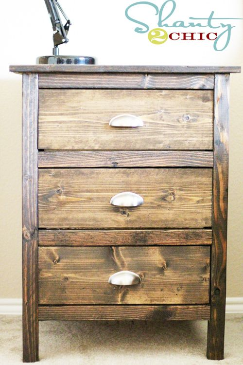 Reclaimed Wood Nightstands via www.shanty-2-chic.com with step by step instructions and photos