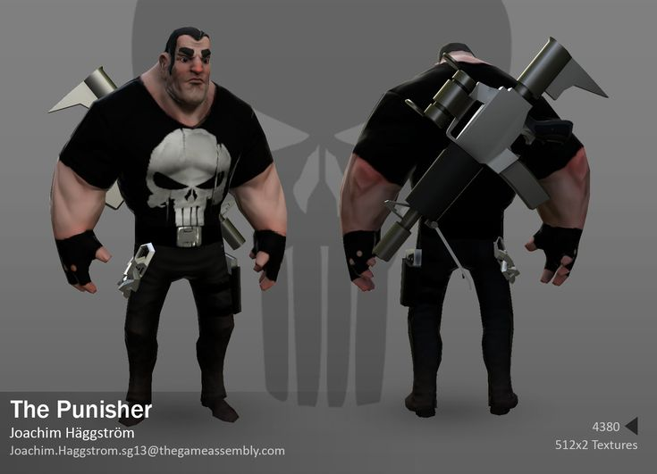 The Punisher, Jocke Häggström on ArtStation at http://www.artstation.com/artwork/the-punisher-633b9637-c3c6-4b54-930b-a24778e00258