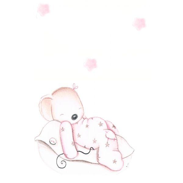 Decoración infantil Il Mondo di Alex, Vinilos - Stickers efecto pintado a mano, RATITA ALMOHADA I... personalizado con nombre y a medida.