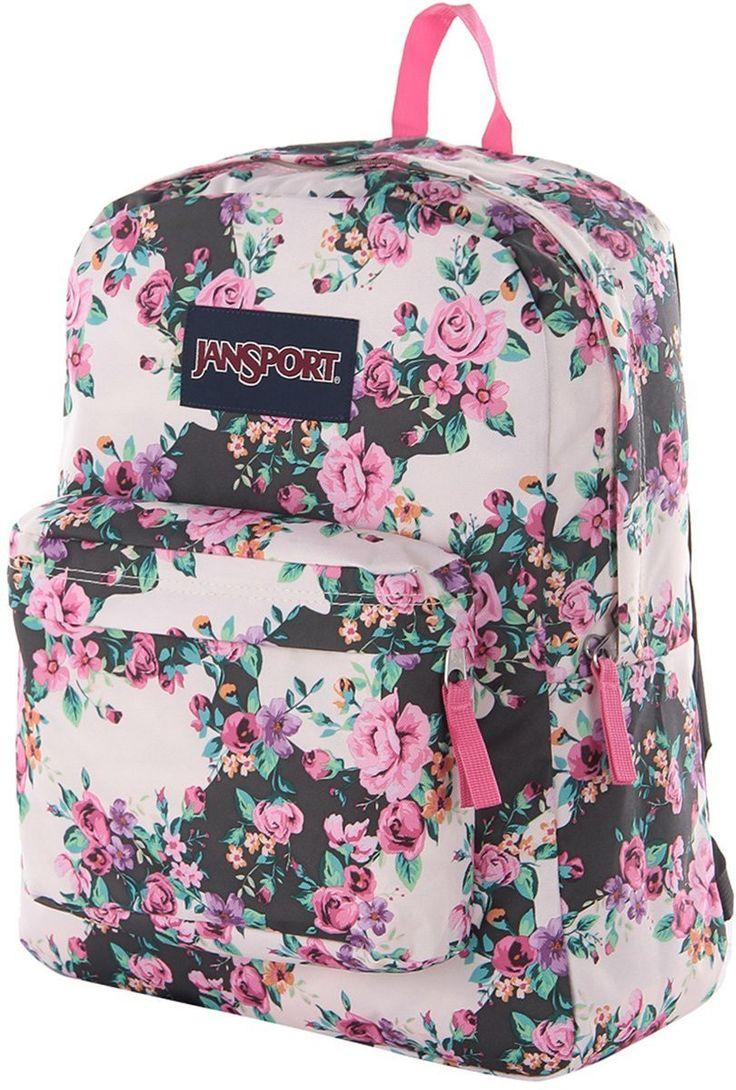 JanSport - Superbreak Backpack - Pink Floral