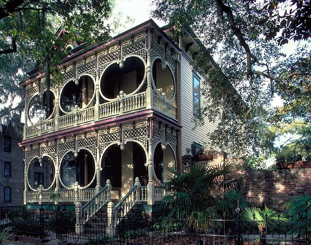 Just bring my mint julep out to the porch, please :)  Gingerbread House Savannah GA by Good Millwork, via Flickr