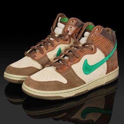 Nike Dunk High SB Wood Deck - Tweed / Classic Green