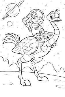 miles from tomorrowland coloring pages