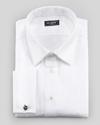 IKE Pleated Tuxedo Shirt