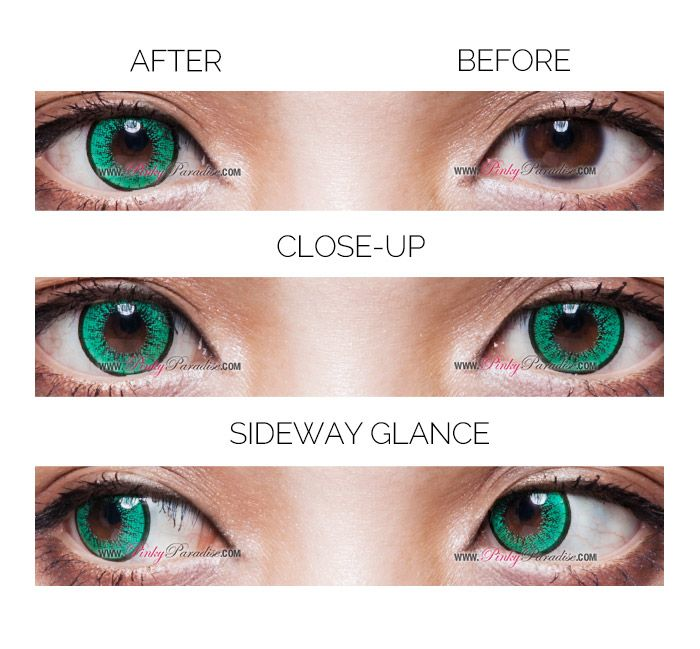 9c87f78c408 EOS New Adult Green Circle Lenses (Colored Contacts)