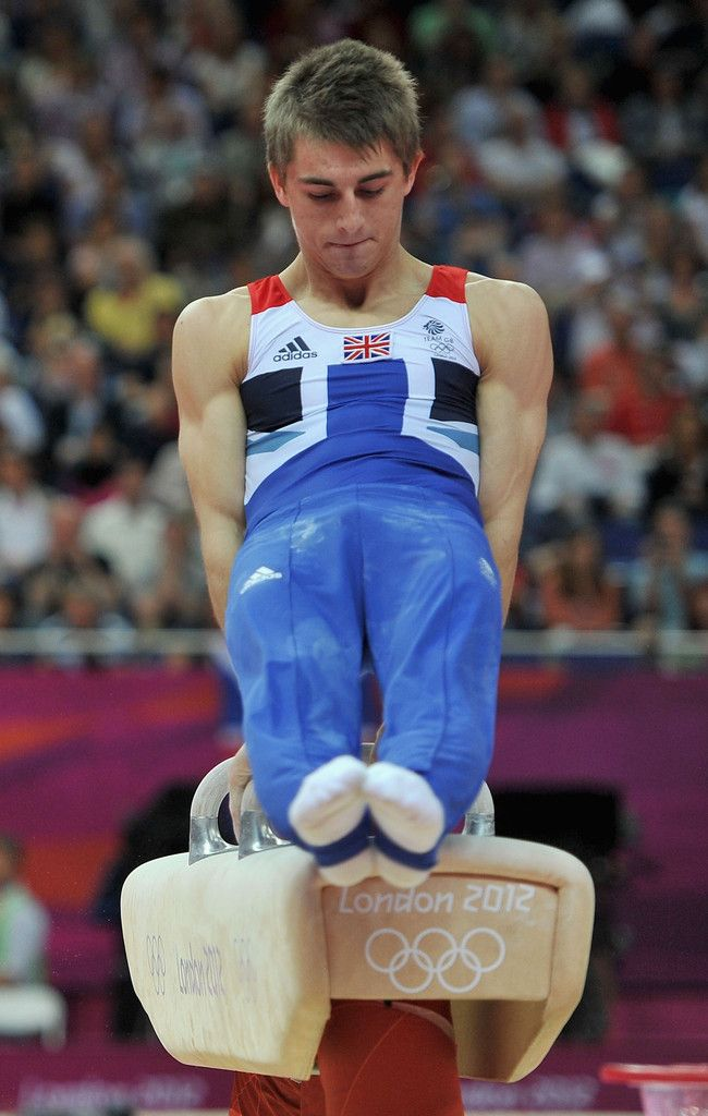 Max Whitlock of Great Britain competes on the horse during the Artistic Gymnastics Men's Pommel Horse Final on Day 9 of the London 2012 Olympic Games at North Greenwich Arena on August 5, 2012 in London, England
