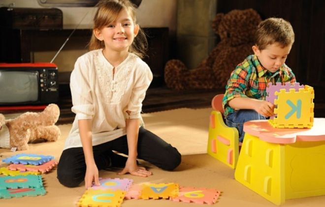 Puzzle de goma eva 10 unidades: ¡Genial para el desarrollo de tus hijos! Producto a sólo $3.990
