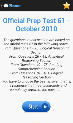 Actual LSAT Test<br>To achieve a deeper level and become familiar with every type of actual LSAT questions, there's no better way than … <br>The Actual LSAT Test in Android, definitely is one of the best tool to score well on the LSAT test that bring to you more chance to getting into the law school of your choice.<br>The Actual LSAT Test offers an Official LSAT Prep Test that is produced by the Law School Admission Council in recent years. Specifically, you can practice as if taking an…