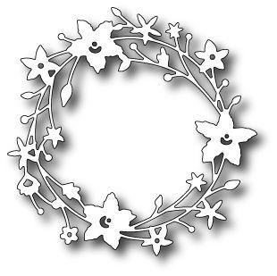 "memory box Stanzschablone ""Catalina Wreath"", 10 cm"