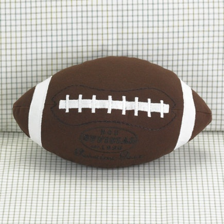 Love this football pillow for a boys football bedroom!