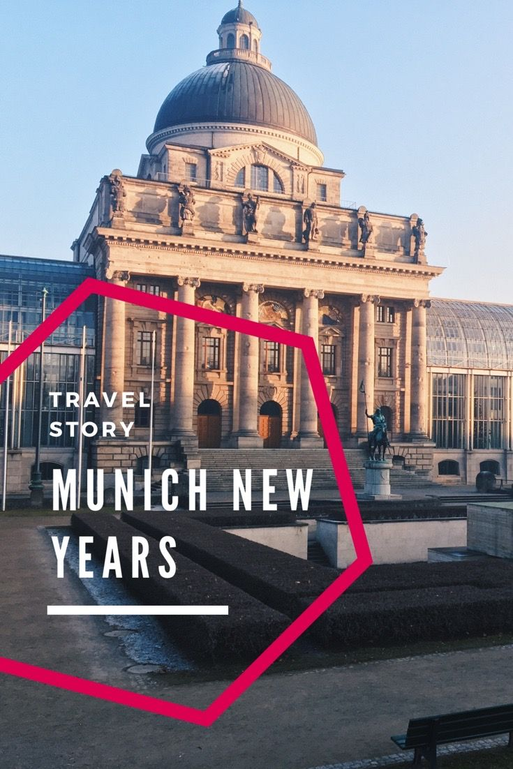 Silvester 2017 in München. Englischer Garten, Marienplatz, München im Jänner. München im Winter.  New Years Eve in Munich. English Garden