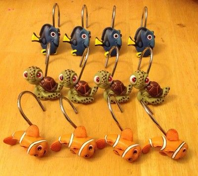 Finding Nemo Shower Curtain Hooks Set Of 12 Dory Squirt