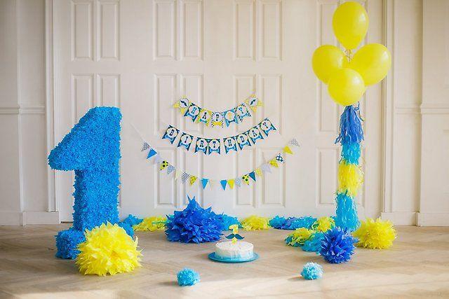 Объемная цифра и праздничный декор для годовасика, тематика little man - Цветы, украшения, праздничное оформление во Владивостоке