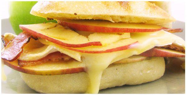 BABP (Bacon, Apple & Brie Panini)Brie Sandwiches, Bacon Paninis, Babp Bacon, Apples Bacon, Bacon Brie, Trader Joe, Brie Paninis, Apples Brie, Bacon Apples