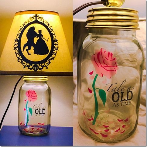 There are these mason jar lamps that are incredible! I wish I had thought of it on my own! They will honestly light up your life!