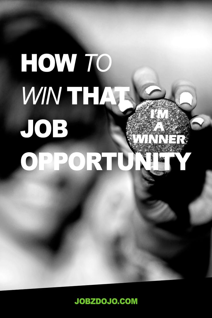 Don't lose out on that job opportunity - find out how to win by thinking about…