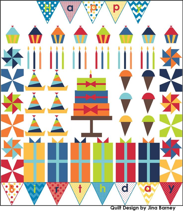 2014 Celebrate Birhtdays Quilt BOM - Riley Blake Designs
