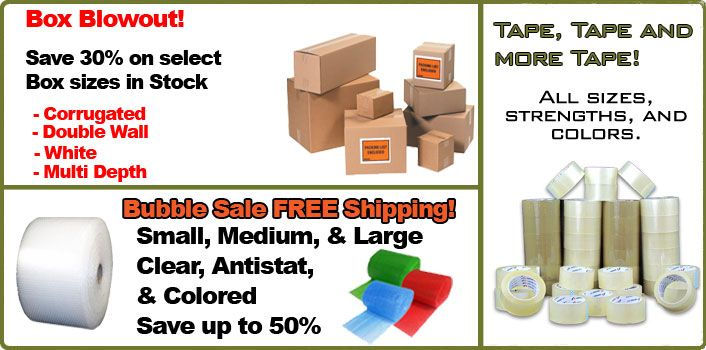 Good source for cheap bubble wrap, mailers, boxes and other packing and shipping supplies.