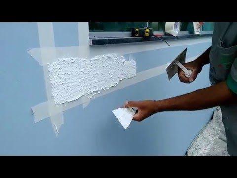 Como fazer textura com argamassa efeito pedra stone wall (parte 1) - YouTube