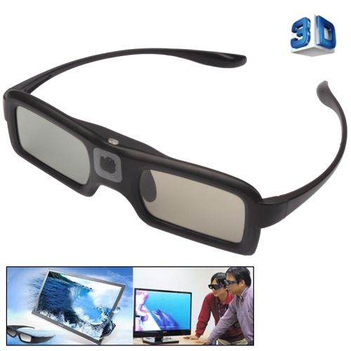 [USD16.67] [EUR15.64] [GBP12.08] 3D Active Shutter Infrared 3D TV Glasses, Built-in Rechargeable Battery