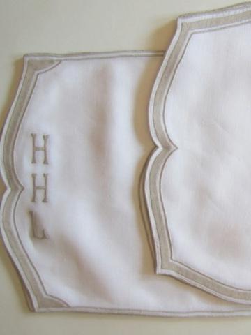 Customizable Flemish Tile Linen Placemat