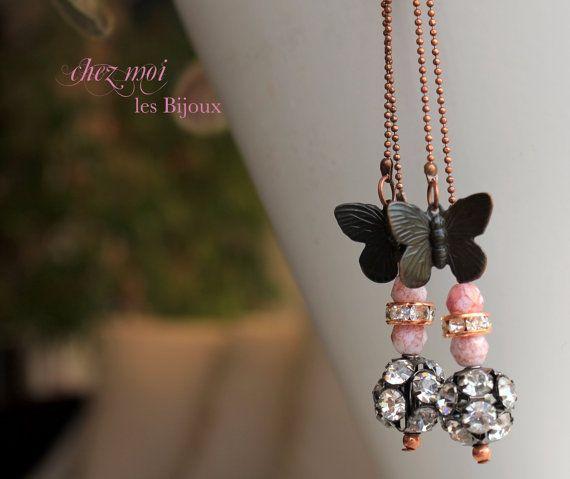 Earrings Art Deco  Dangle Findings  Vintage di ChezMoiLesBijoux