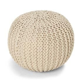 Knitted Ottoman - Natural