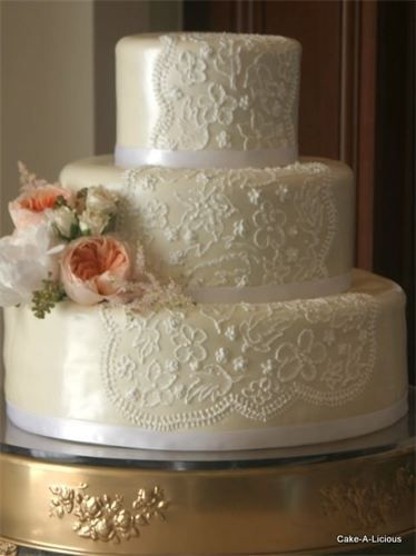 The Lace Detail BMO Wedding Cake Ideas Pinterest
