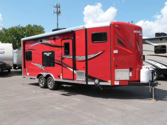 Work And Play 21Vfb >> The V Nose Work And Play 21vfb Toy Hauler Travel Trailer By