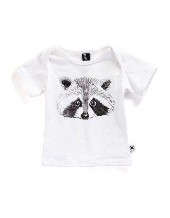 Minti | Baby Tee - Raccoon - White