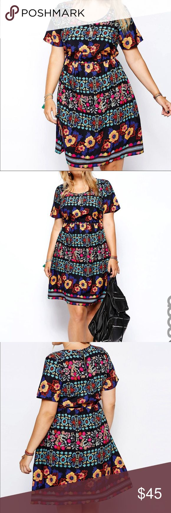 Asos curve dress US size 20 but would also fit a size 22. Great condition. No trades. Price is firm. ASOS Curve Dresses