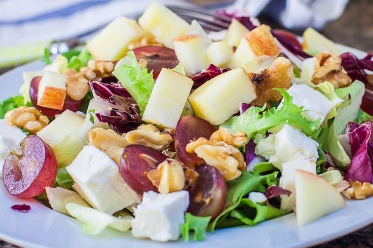 Salade d'épinards aux pommes et feta...Vinaigrette érable & balsamique