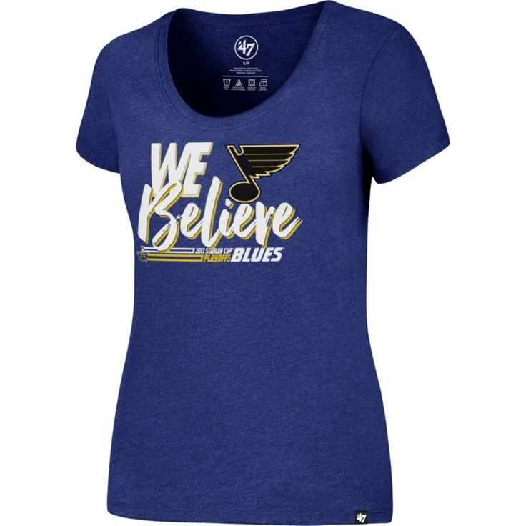 '47 Women's 2017 NHL Stanley Cup Playoffs St. Louis Blues Royal T-Shirt, Size: Medium, Team