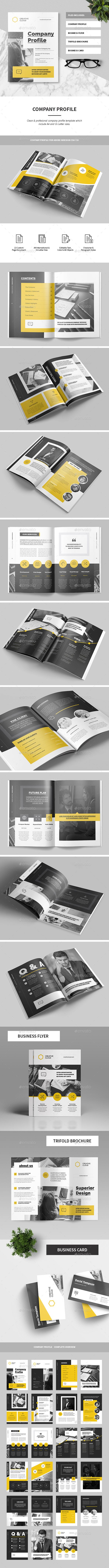 Company Profile Brochure Template 	InDesign INDD. Download here: https://graphicriver.net/item/company-profile/17338639?ref=ksioks
