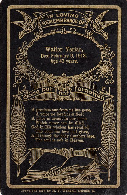 Victorian Funeral Card by peacocktaco, via Flickr