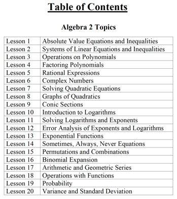 "Algebra 2 - Activity book ""FACEing Algebra 2"" - $20"