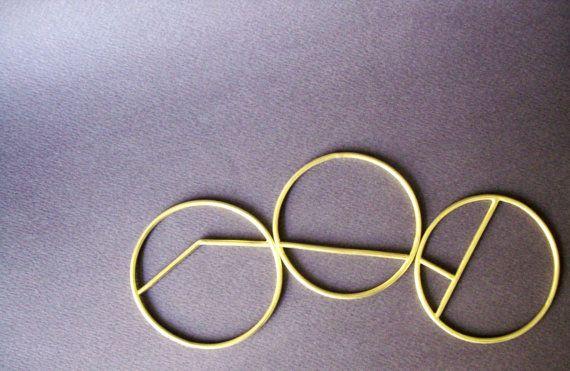 gold bracelet modern chic elegant geometric by AnnaDCreations
